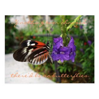 Carte postale/citation de papillon de piano