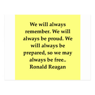 Carte Postale citation de Ronald Reagan