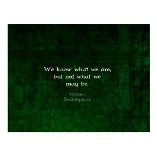 Carte Postale Citation de William Shakespeare au sujet des