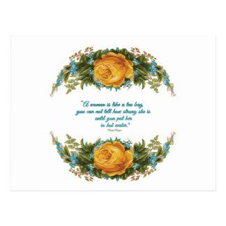 Carte Postale Citation inspirée pour des femmes par Nancy Reagan