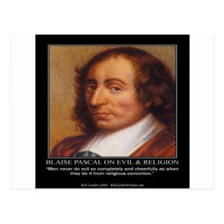 Carte Postale Citation mauvaise religieuse de Blaise Pascal