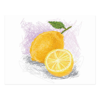 Carte Postale citron