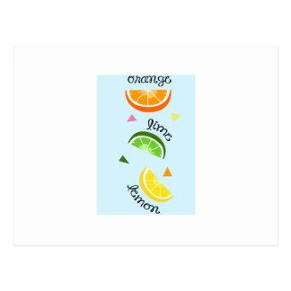 Carte Postale Citron orange de chaux