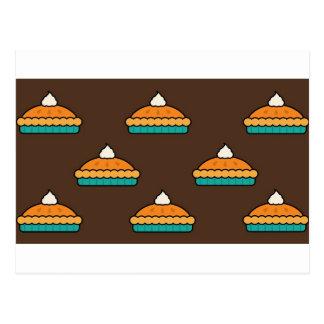 Carte Postale Citrouille de dessert de tarte de tarte de