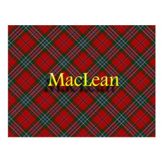 Carte Postale Clan écossais MacLean