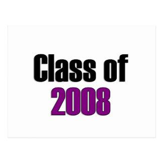 Carte Postale Classe du pourpre 2008