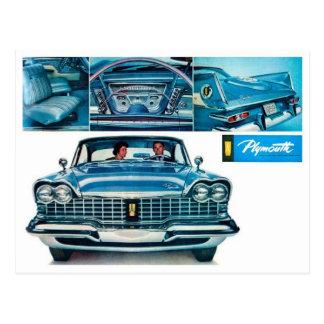 Carte postale classique d'automobile