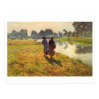 Carte postale classique de peinture