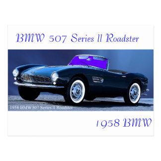 Carte postale classique de voiture