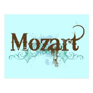 Carte postale classique fraîche de Mozart
