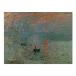 Carte Postale Claude Monet - impression, lever de soleil