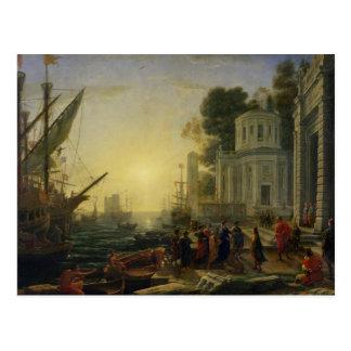 Carte Postale Cléopâtre débarquant au tarse, 1642