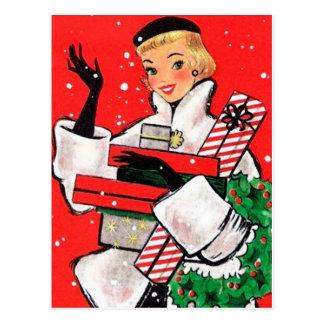 Carte Postale Client de Noël d'années '50
