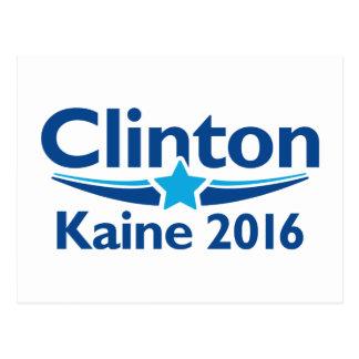 Carte Postale Clinton Kaine 2016