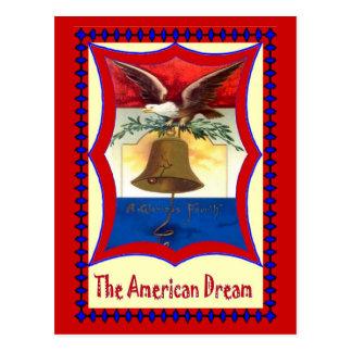 Carte Postale Cloche de liberté et aigle chauve