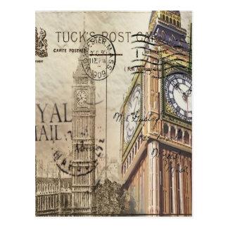 Carte Postale Clocktower grand Ben de la Grande-Bretagne