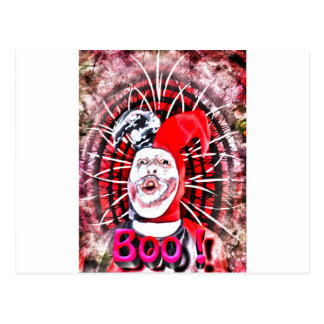 Carte Postale clown effrayant