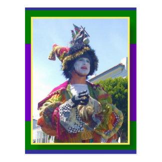 Carte Postale Clown heureux de Mardis Gras