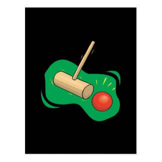 Carte Postale Club et boule de croquet
