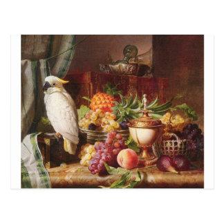 Carte Postale Cockatiel exotique d'oiseau de fruit de perroquet