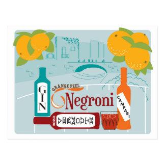 Carte Postale Cocktail d'agrume de Negroni