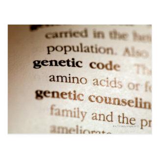 Carte Postale Code génétique et définitions de consultation