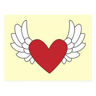 Carte Postale Coeur à ailes