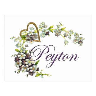 Carte Postale coeur avec le peyton de fleurs