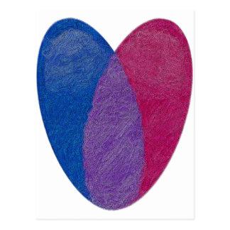 Carte Postale Coeur bisexuel