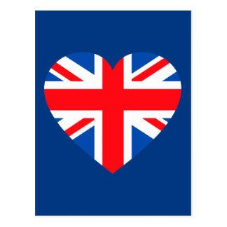 Carte Postale Coeur britannique BRITANNIQUE Grande-Bretagne de