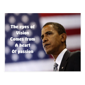 Carte Postale Coeur de Barack Obama de passion