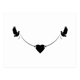 Carte Postale Coeur de colombe