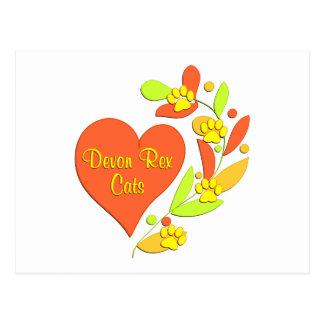 Carte Postale Coeur de Devon Rex