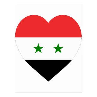 Carte Postale Coeur de drapeau de la Syrie