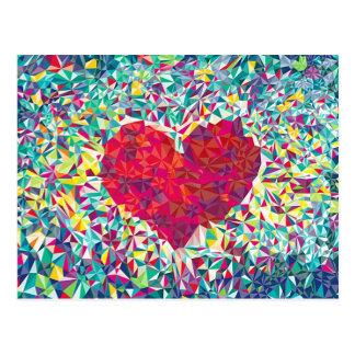 Carte Postale Coeur de fractale