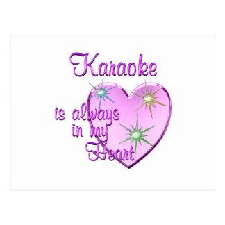Carte Postale Coeur de karaoke