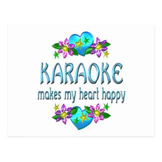 Carte Postale Coeur de karaoke heureux