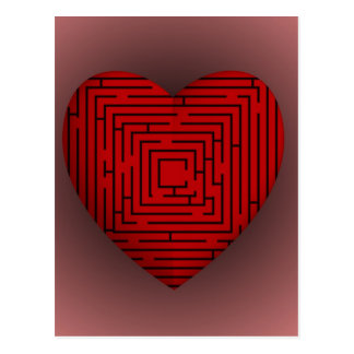 Carte Postale Coeur de labyrinthe