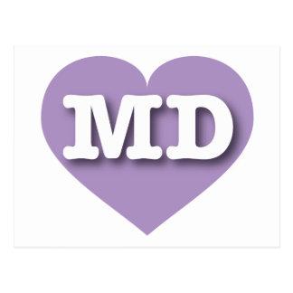 Carte Postale Coeur de lavande du Maryland - grand amour