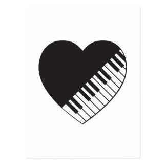 Carte Postale Coeur de piano