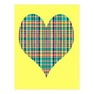 Carte Postale coeur de plaid