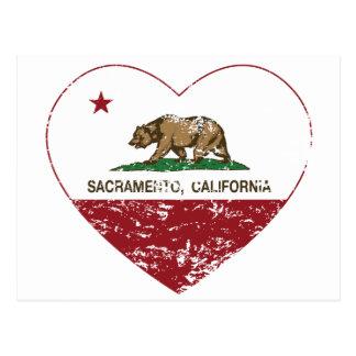 Carte Postale coeur de Sacramento de drapeau de la Californie