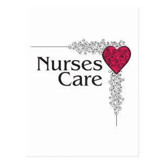 Carte Postale coeur de soin d'infirmière