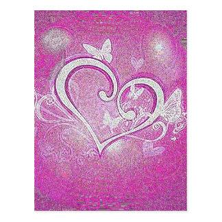 Carte Postale coeur d'éclat