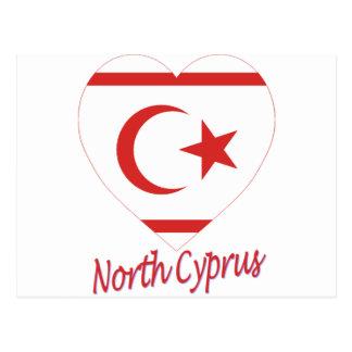 Carte Postale Coeur du nord de drapeau de la Chypre