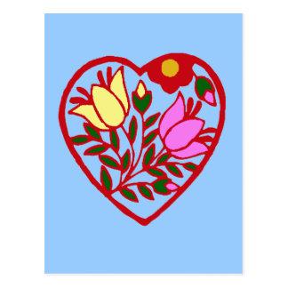 Carte Postale Coeur floral
