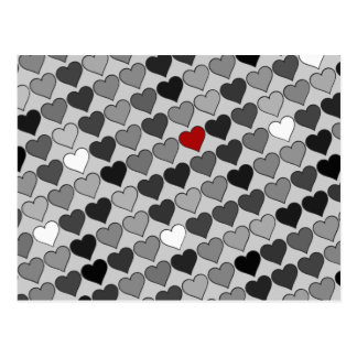 Carte Postale coeur rouge dans la foule
