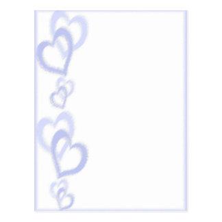 Carte Postale Coeurs mauve