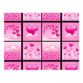 Carte Postale Coeurs roses de Girlie de l'amour