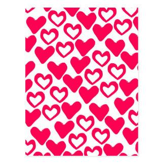 Carte Postale Coeurs simples 2014